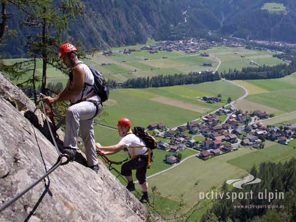 Klettersteig Lehner Wasserfall : Klettersteig lehner wasserfall light aktivsport alpin